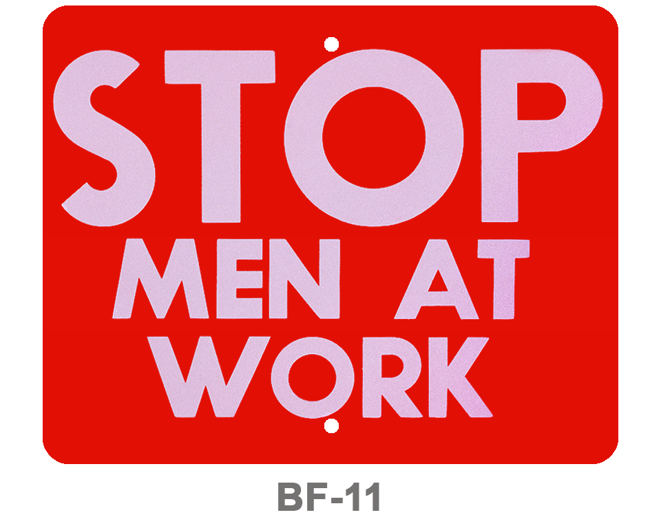 BF-11_STOP MEN AT WORK_SIGNAL FLAG_RED