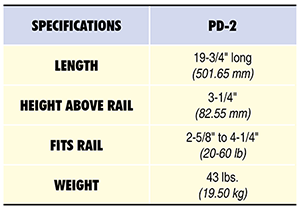 PD-2 Specs Table