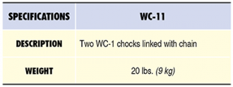 WC-11 Specs Table