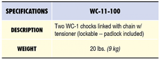 WC-11-100 Specs Table