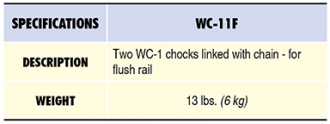 WC-11F Specs Table