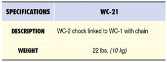 WC-21 Specs Table